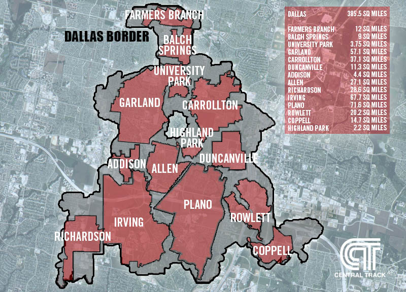 Is Dallas Mostly Made Up of Suburbs? | Central Track