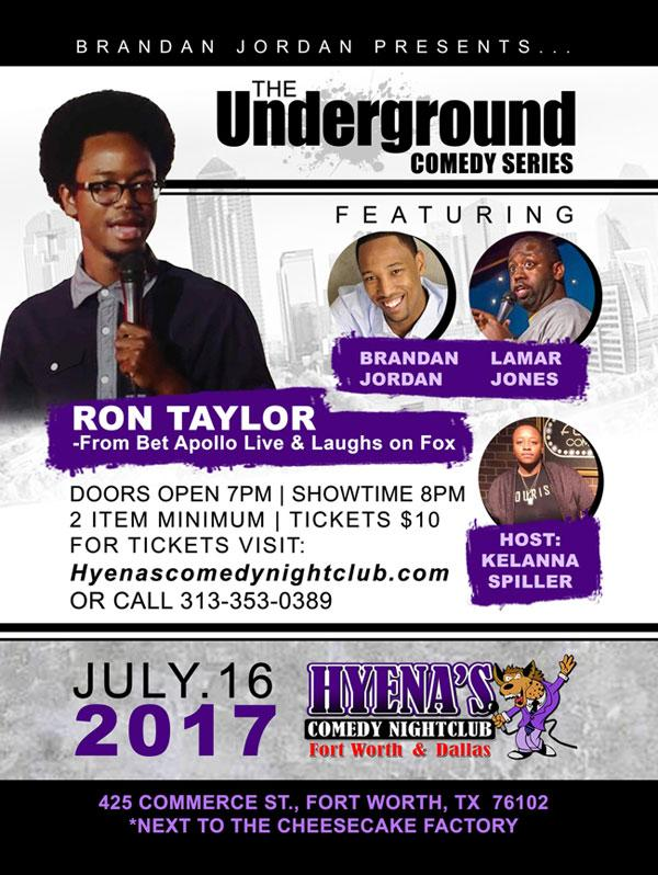 The Underground Comedy Series at Hyena's Comedy Club Fort ...