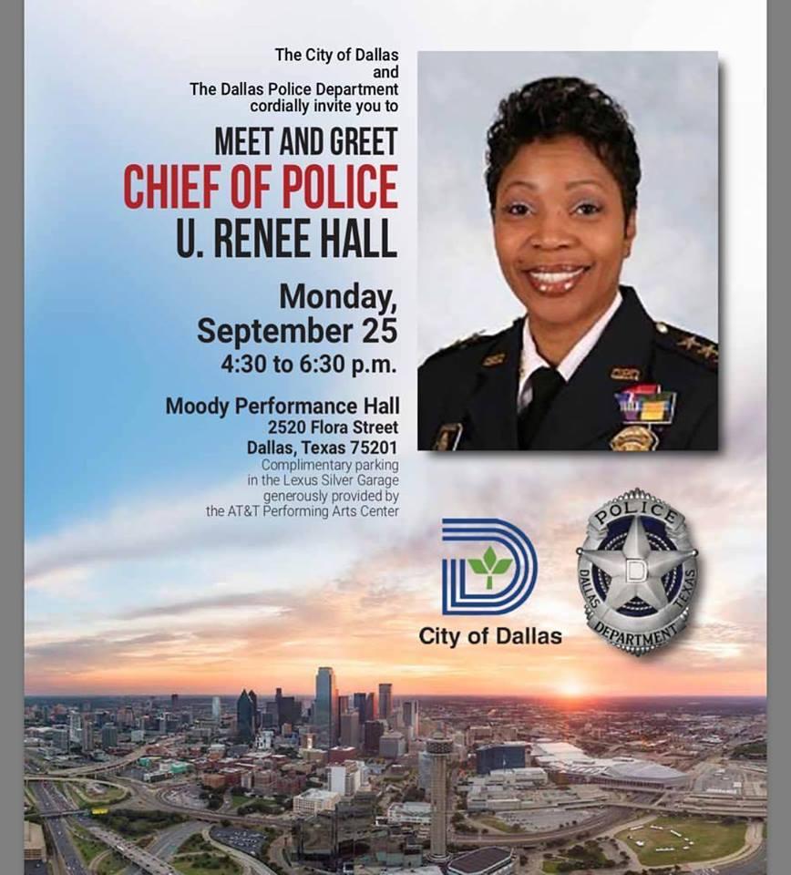 DPD Chief U  Renee Hall Meet and Greet at Moody Performance