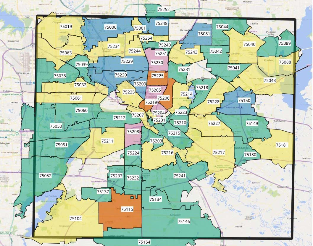 uptown dallas zip code map Coronavirus Briefs Dallas Latest Infected Map More Central